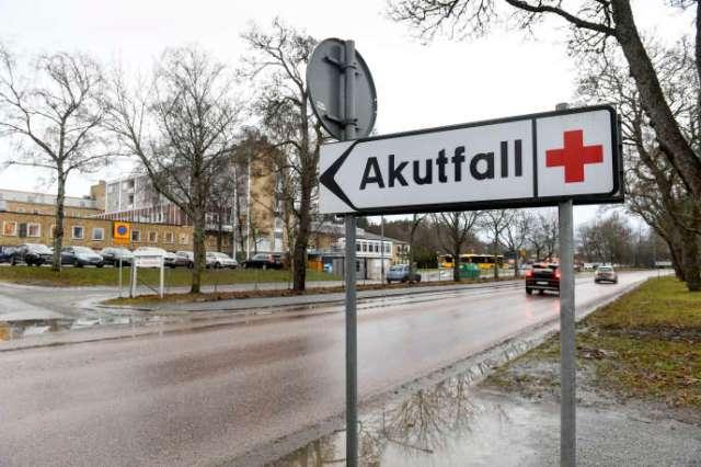 L'hôpital d'Enköping, dans l'est de la Suède, en janvier 2019.
