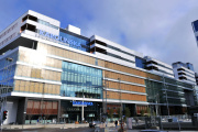 Le nouvel hôpital Karolinska, à Solna, au nord de Stockholm, en septembre 2018.