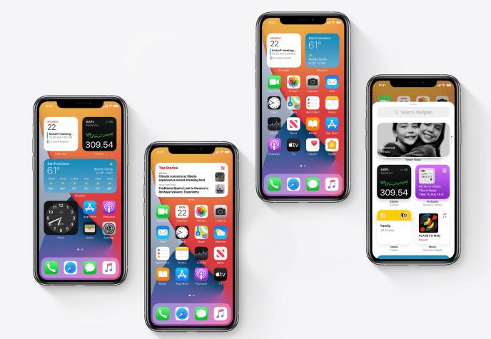 Avec iOS 14, il deviendra possible de glisser des widgets parmi les icônes des applications, directement sur l'écran d'accueil.