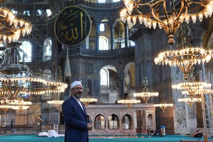 Le chef religieux turc, Ali Erbas, à Istambul, Turquie, le 22 juillet.