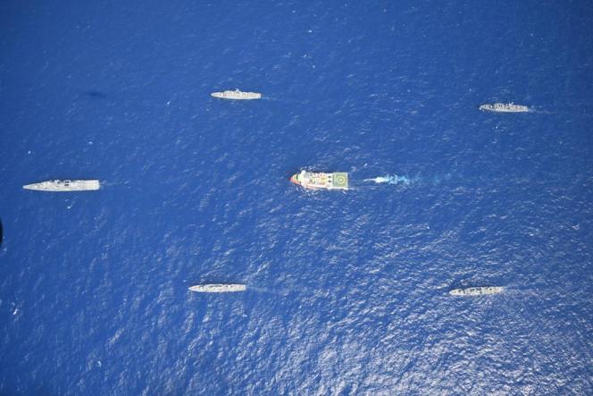 Des navires turcs en Méditerannée, le 10 août 2020.