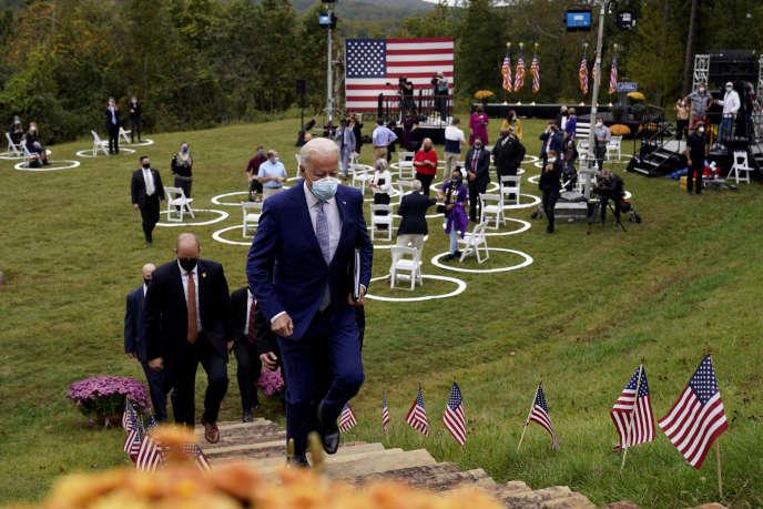 L'ancien vice-président Joe Biden, est passé à l'offensive en tenant deux meetings en Géorgie. Ici, àWarm Springs, le 27octobre.