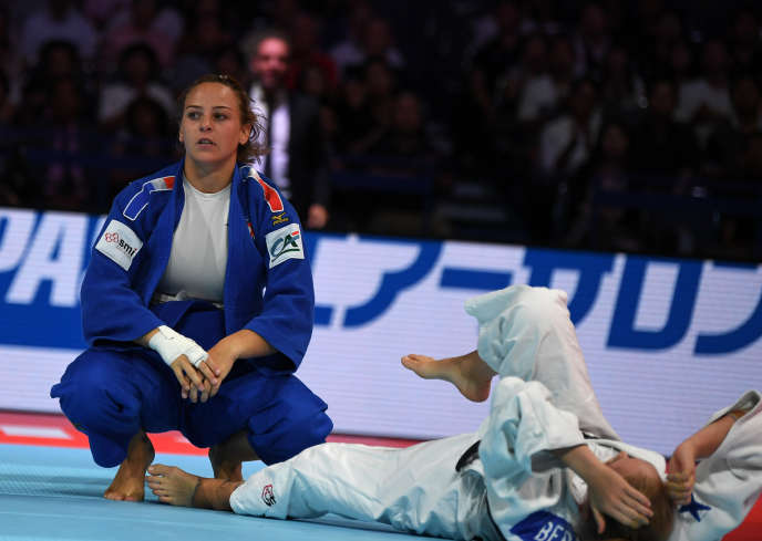 Margaux Pinot, during her victorious fight for third place at the 2019 World Cup, in Japan.