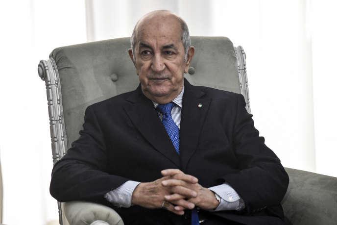 Le président algérien Abdelmadjid Tebboune à Alger, le 21 janvier 2020.