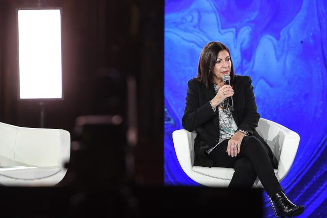 Anne Hidalgo, during a climate conference, at Paris city hall, December 11, 2020.