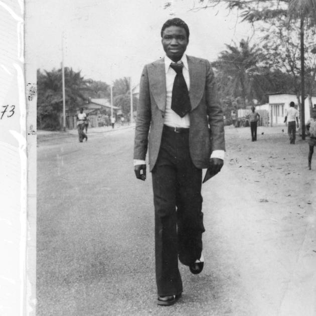 Séverin Mouyengo, en juillet 1973, à Pointe Noire.