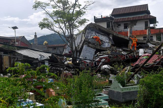 Authorities did not say how many people could still be trapped in the rubble of collapsed buildings.