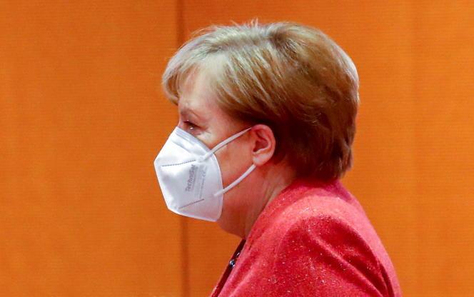 Angela Merkel, le 20 janvier, à Berlin.
