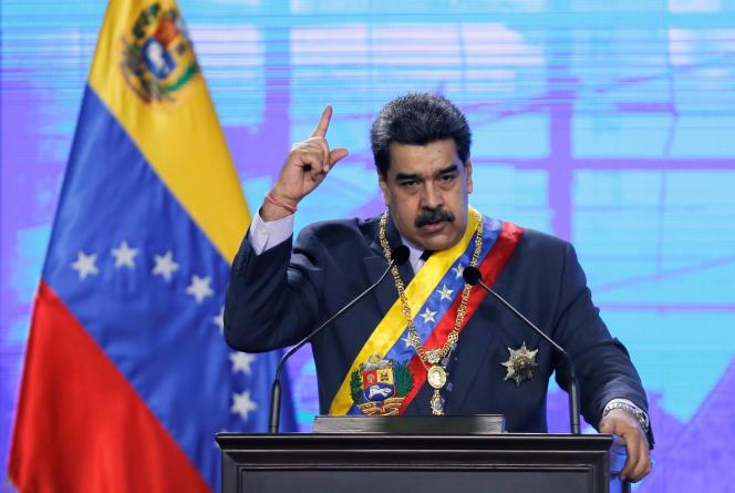 Le président vénézuélien Nicolas Maduro Caracas, lors d'une cérémonie à Caracas, le 21 janvier.