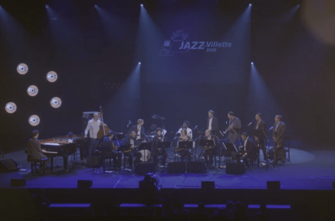 The big band led by Christophe Dal Sasso filmed during the Africa / Brass Revisited concert at the Jazz festival in La Villette.