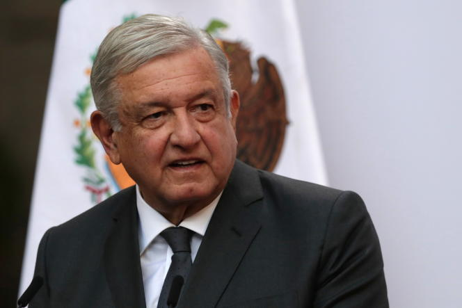 Mexican President Andres Manuel Lopez Obrador on December 1, 2020 at the Presidential Palace in Mexico City.