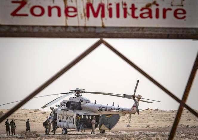 A Guerguerat, poste-frontière entre le Sahara occidental et la Mauritanie, le 25 novembre 2020.