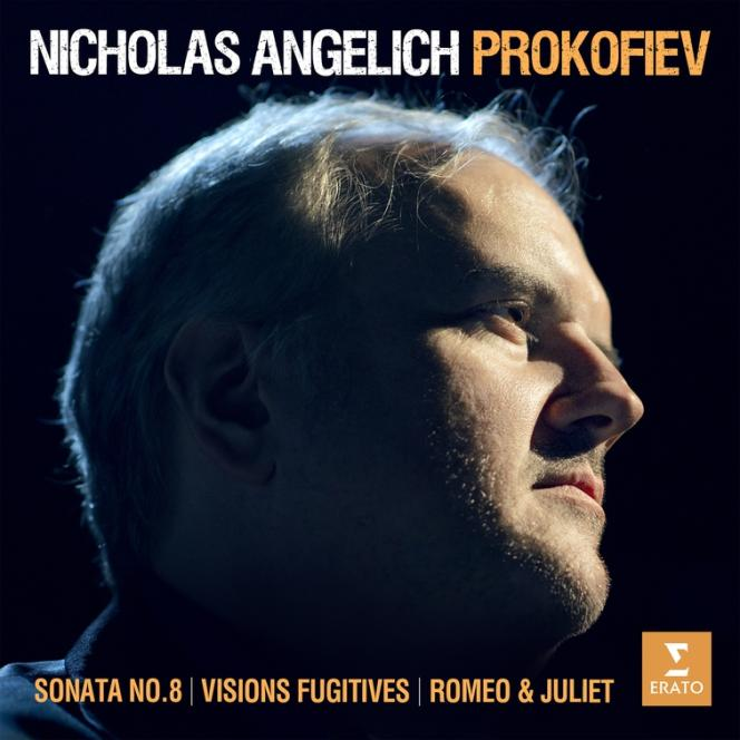 """Cover of the album """"Works for piano"""", by Serge Prokofiev by Nicholas Angelich."""