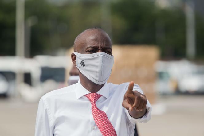Le président Haïtien Jovenel Moïse, à Port-au-Prince, le 7 mai 2020.