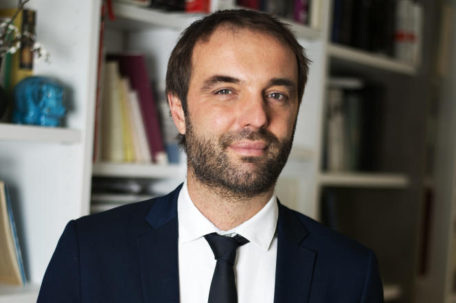 The mayor of Montpellier, Michaël Delafosse, at his home on February 4.