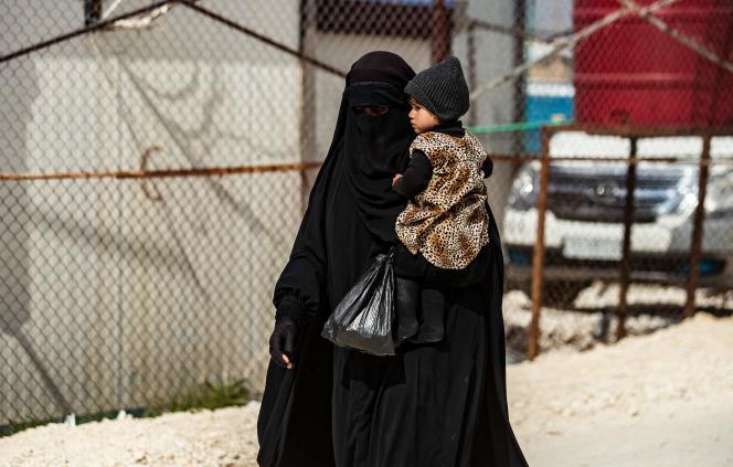 In Al-Hol detention camp in Syrian Kurdistan on March 3.