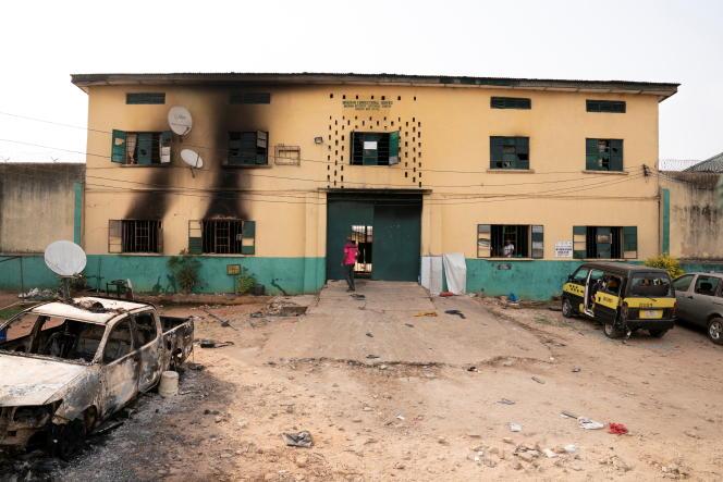 L'entrée principale de la prison d'Owerri, dans l'Etat d'Imo, au Nigeria, le 5avril 2021.
