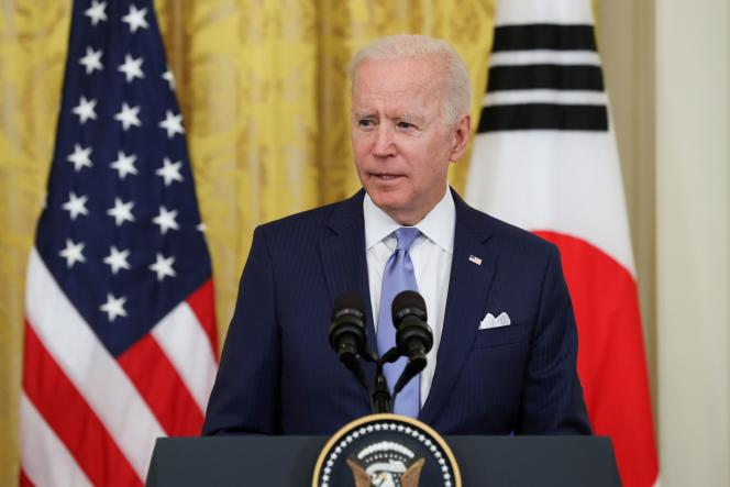 Joe Biden, à la Maison Blanche, à Washington, vendredi 21 mai.