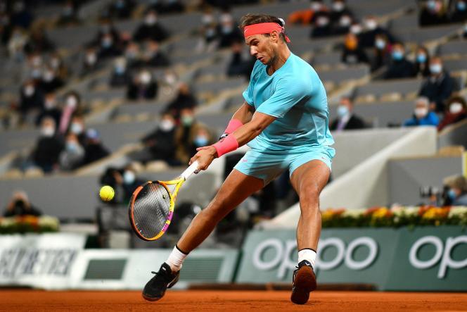 Rafael Nadal, October 11, 2020, in Paris.