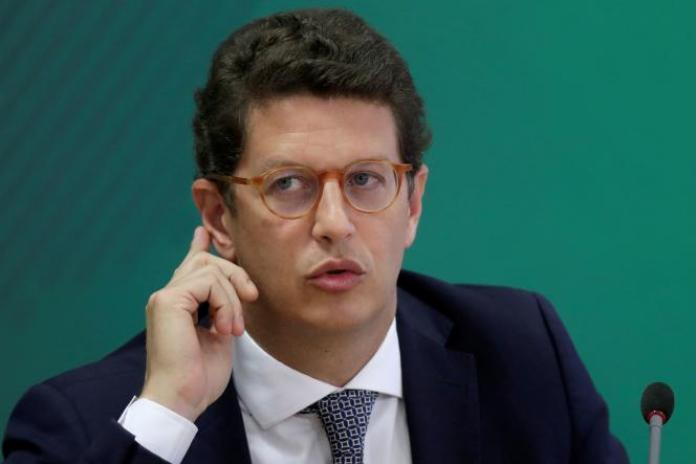Ricardo Salles, ministre de l'environnement du Brésil, à Brasilia, le 22 avril 2021.