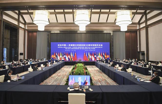 Rencontre entre le ministre chinois des affaires étrangères,Wang Yi,ses homologues de l'Asean, le7 juin àChongqing