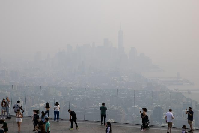 La ville de New York à travers une couverture de fumée, le 20juillet2021.