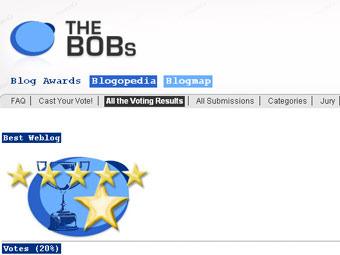 Скриншот сайта The BOBs