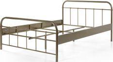 Bed 140x200 cm taupe metal Boston