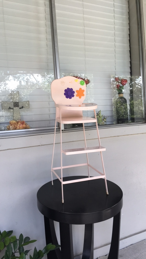 american girl doll high chair long shower used metal baby pink for sale in homeused home and garden items texas dallas