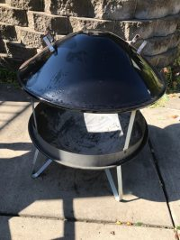 Used Weber fire pit with cover for sale in Burnsville - letgo