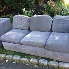 2 Seater L Shaped Sofa Bed American Furniture Leather Used Gray Fabric Sections 3 Seat For Sale In Mendham