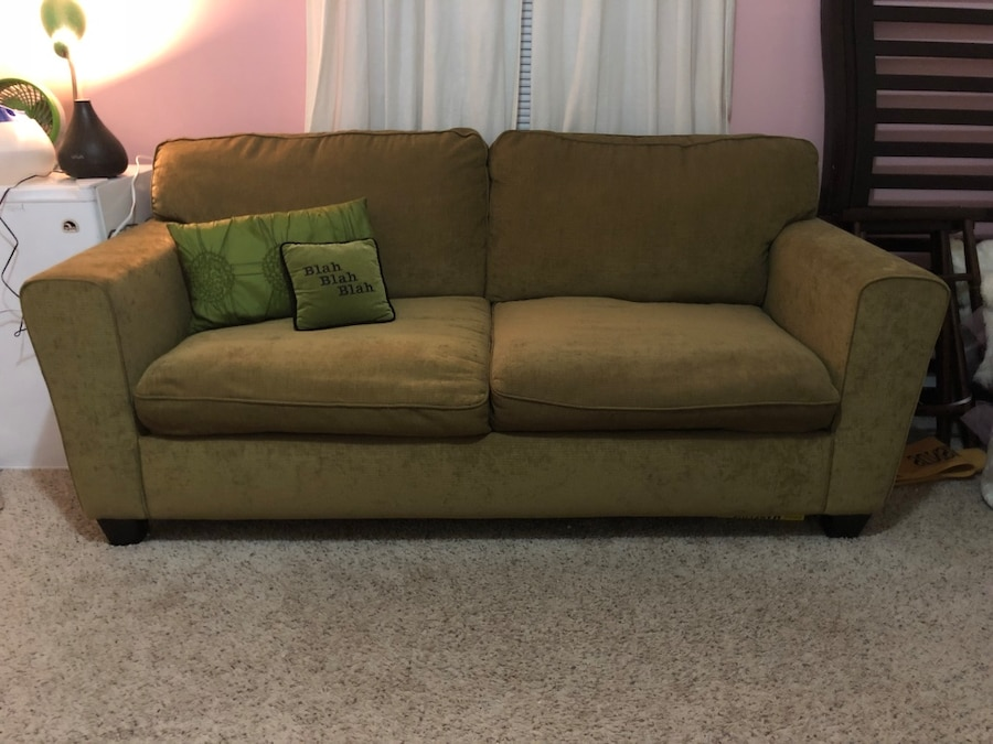sleeper sofas atlanta restaurant sofa booth seating used army green for sale in letgo