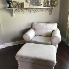 Ikea Chair With Ottoman Tufted Chairs For Sale Used Ektorp And In Bradenton Letgo 1 3