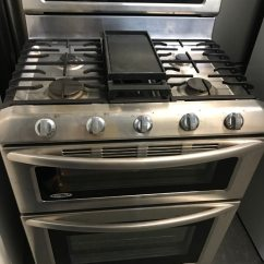 Kitchen Aid Gas Stove Lights Over Island Used 5 Burner Double Oven With Warranty For