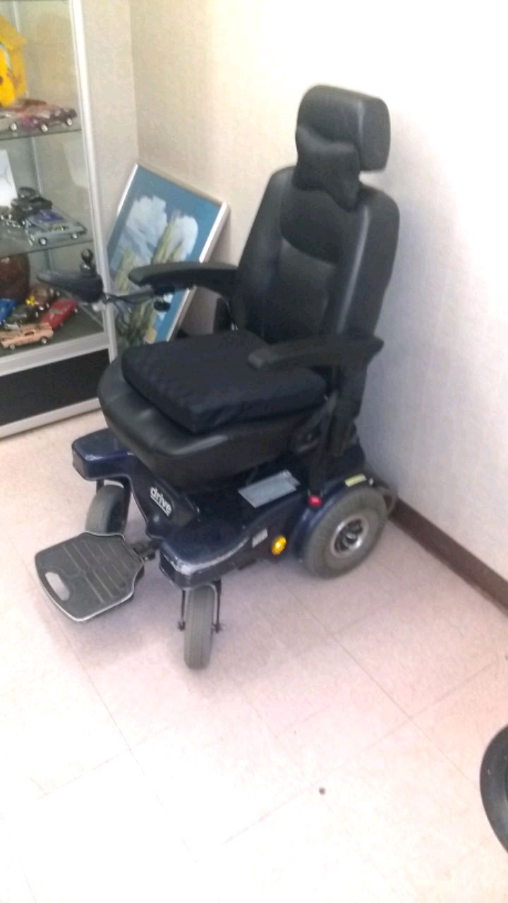 liberty 312 power chair red chairs used with joystick control for sale in los black and gray electric wheelchair