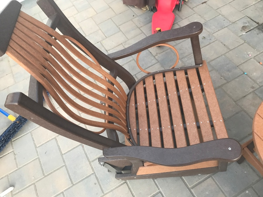 Used COMPOSITE ROCKING CHAIRS WITH MATCHING TABLE in South