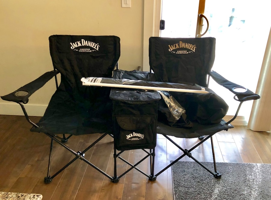 chairs with speakers entertainment room used jack daniels duo folding speaker cooler umbrella for sale in chula vista letgo