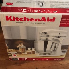 Silver Kitchen Aid Cabinets Pensacola Used Stand Mixer Once For Sale In Valley