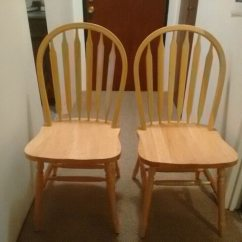 Oak Kitchen Chairs Flush Mount Light Used 2 New Beautiful For Sale In Burnaby Letgo