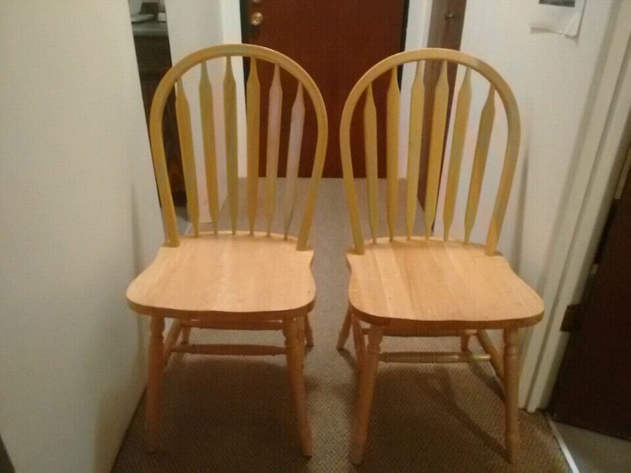used kitchen chairs chrome 2 new beautiful oak for sale in burnaby letgo