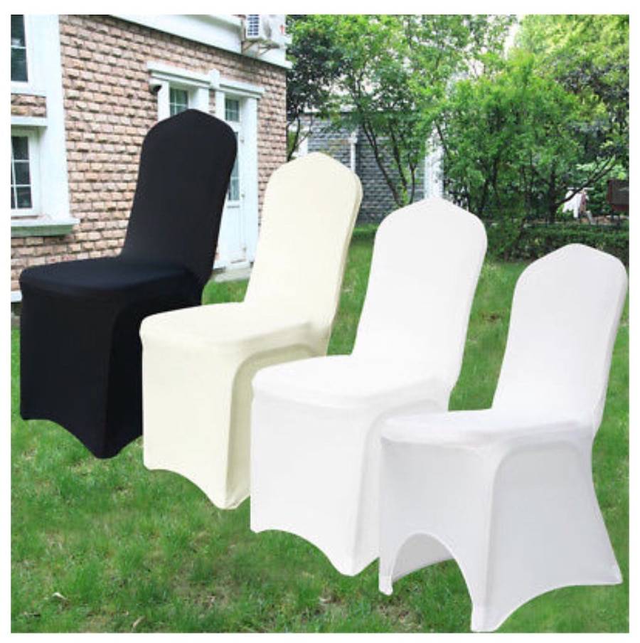 used spandex chair covers doc mcstuffins erasable activity table and set new white wedding for sale in san jose