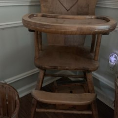 Antique Wooden High Chair Target Beach Chairs Sale Used For In Marietta Letgo