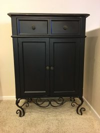 Used Black wooden curio cabinet in Vista
