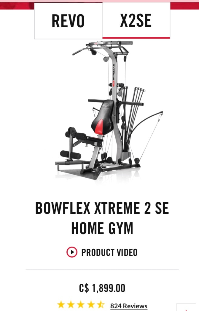 Bowflex Xtreme 2 Se For Sale Only 2 Left At 75