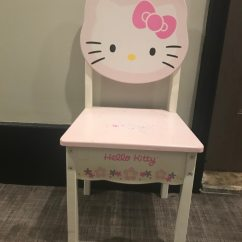 Hello Kitty Desk Chair Hanging Amart Used White And Pink Small For Sale In New York Letgo