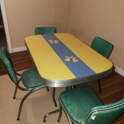 1950s Kitchen Table Carbon Steel Knives Used Vintage 1950 S Retro Chrome W Leaf 4 Chairs 400 Obo For Sale In St Catharines Letgo