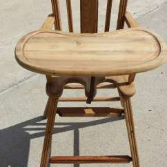 Antique Wooden High Chair Phil Teds Poppy Used For Sale In Okoboji Letgo