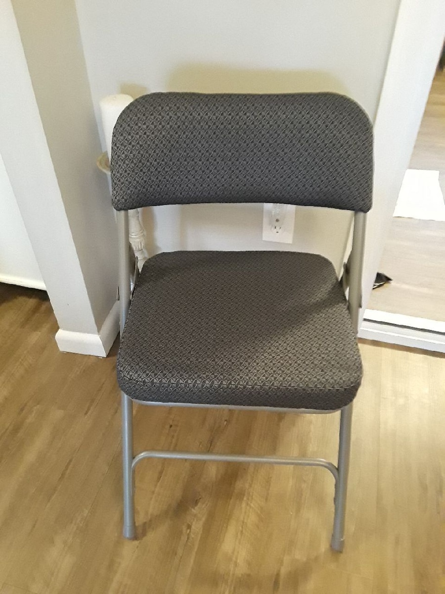 cushioned folding chairs deck chair plans used for sale in toms river letgo