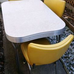 Retro Chrome Chairs Chaise Lounge Chair Outdoor Target Used Mid Century 50s Table For Sale In Englewood Letgo