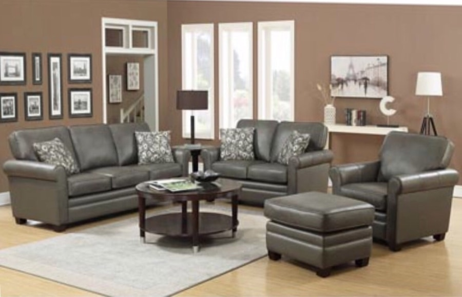 finance living room set modern sofa 4 piece top grain leather 50 down no credit check financing